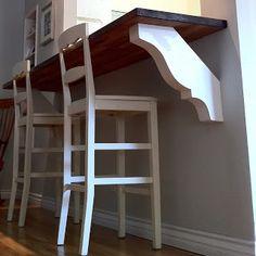 kitchen desks, diy desk, breakfast nooks, kitchen redo, fifti kitchen, kitchen nook, breakfast bars, bar top, kitchen walls