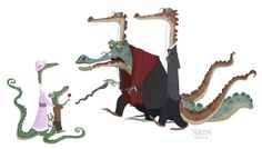 Art by Jason Norton* Crocodile Illustration, Illustration Art, Illustrations, Animation Reference, Art Reference, Character Concept, Character Art, Cartoon Monsters, Fanart