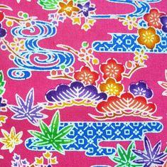Cotton - Okinawa bingata print fabric - Pink 1 by raycious, via Flickr