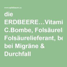 die ERDBEERE…Vitamin C.Bombe, Folsäurelieferant, bei Migräne & Durchfall