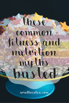 5 Common Health and Fitness Myths #fitness #nutrition #weightloss