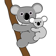 free clip art koala forest animals pinterest clip art free rh pinterest com koala clipart outline koala clipart outline