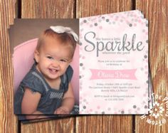 She leaves a little Sparkle Invitations