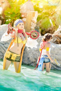 Rikku & Yuna (Final Fantasy X-2 | by Calssara