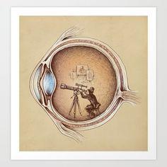 Art Print featuring Extraordinary Observer by Enkel Dika