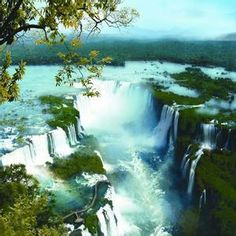 Inga Falls in the Congo river Iguazu National Park, National Parks, Congo River, We Are The World, Amazing Pics, Amazing Destinations, Aerial View, Travel Around, Wonderful Places