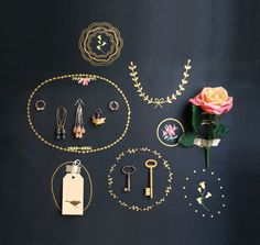 For the office - sticker Pin Board gold