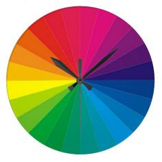 COLOR WHEEL WALL CLOCK  ,                       By TJ Copyright © TJ Ro All rights reserved