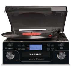 CROSLEY CR6008A-BK TECH TURNTABLE BLACK USB SD #Crosley