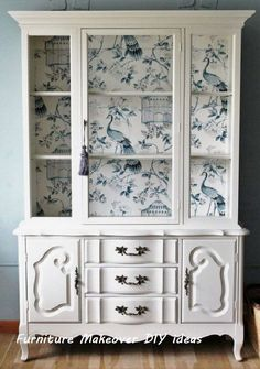 Most Beautiful Antique China Cabinet Makeover New Simple Diy Furniture Makeover And Transformation Homedecor Refurbished Furniture, Repurposed Furniture, Shabby Chic Furniture, Furniture Makeover, Painted Furniture, Rustic Furniture, White China Cabinets, Antique China Cabinets, Painted China Cabinets