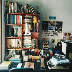 Shared by zhopa. Find images and videos about home, books and design on We Heart It - the app to get lost in what you love. Study Room Decor, Bedroom Decor, Study Inspiration, Aesthetic Bedroom, Dream Rooms, My New Room, House Rooms, Cozy House, Room Interior