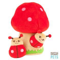 Puppy Dog Toy - Martha Stewart Pets Mushroom w/ Lady Bugs