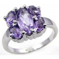 2.65ctw Genuine Amethyst & Solid .925 Sterling Silver Gemstone Ring (SJR1099A), Birthstone Rings. Buy Now: http://www.sterlingsilverjewelry.tv/genuine-amethyst-925-sterling-silver-gemstone-ring-sjr1099a.html #SterlingSilverJewelry #silverrings #sterlingsilverrings #ringsilver #silverringdesigns #handmaderings #silverringssterling #Rings #RingsJewelry