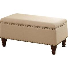 Take a seat on this cushioned bench to pull your boots on before heading outdoors, or add it to the foot of the guest bed to organize throws and spare pillow...