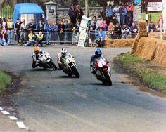 Joey, Robert and ??. Late 80's irish road racing