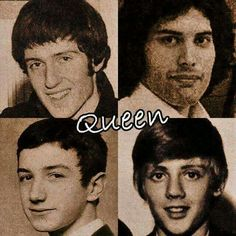 Brian May, Freddie Mercury, Roger Taylor, and John Deacon when they were really young 5 September, Queen Ii, Best Rock Bands, Music Items, Queen Photos, Ben Hardy, Somebody To Love, Queen Freddie Mercury, Queen Band