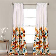 Lush Decor Percy Bloom Room Darkening Window Curtain Panel Pair - Free Shipping Today - Overstock.com - 25613099