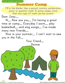 Fall themed ending punctuation worksheet. I would use this in to ...