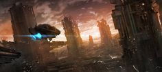 Sci-fi City by Phuoc Quan 1500px X 680px