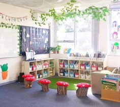 Fantastic Photographs preschool classroom library Tips Do you think you're a brand new teacher that is wondering the best way to arrange a new toddler school room? Preschool Classroom Layout, Reading Corner Classroom, Kindergarten Library, Preschool Rooms, Montessori Classroom, Classroom Setting, Classroom Design, Classroom Themes, Classroom Organization