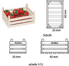 Autour du marché - maison de poupée - vitrines miniatures
