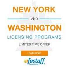 #travelnurse NY & WA Licensing Program via #Fastaff http://www.fastaff.com/washington-and-new-york-licensing-program?src=BANNRGNTLPDPC