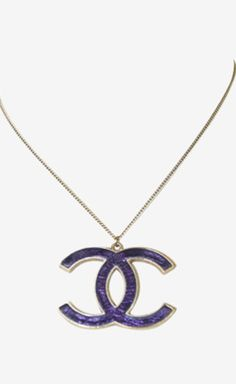 Chanel Purple And Gold Necklace