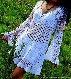 Sassy Crochet Bathing suit  COVER UP. Love this Look