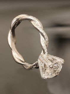 Twisted band engagement ring