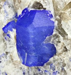 Sodalite with Nepheline from Afghanistan--look at that radiant blue!