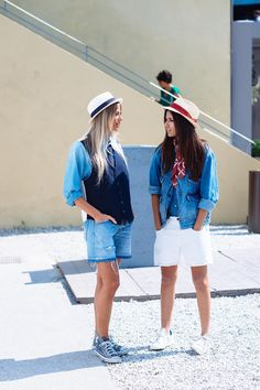 Denim outfits at Pitti Uomo 86, Florence Italy, June 2014