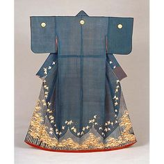 Kimono, Edo Period, 19th c, Kyoto National Museum  from roger yorke's boards. he has tons of kimonos.