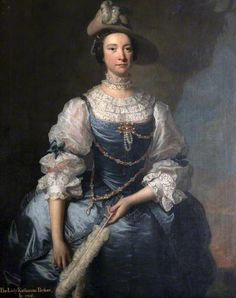 Thomas Hudson - Frances Hort Mrs John Parker (incorrectly inscribed as Lady Katherine Parker, National Trust, Saltram Madame Pompadour, 18th Century Dress, 18th Century Fashion, Historical Costume, Historical Clothing, Female Portrait, Female Art, Luis Xiv, Masquerade Costumes