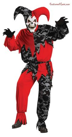 Sinister Jester Adult Std Costume at Costumes4Less.com