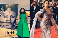 "Hina Khan is going to debut in Bollywood with the movie""Lines"". Hina Khan's ""lines"" movie Poster re Movie Lines, Colourful Outfits, Bollywood News, Cannes Film Festival, Pink Color, Hollywood, Gowns, Formal Dresses, Movie Posters"