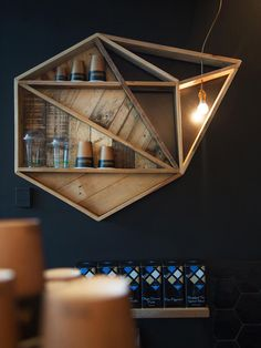really neat idea for shelves... can use my crates in combination with this... I think it's stunning! maybe use some pallet wood?