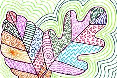 Cycle 1 - Art Projects for Kids: Line Art Leaves. Elements and principles of design. Fall Art Projects, Classroom Art Projects, Drawing Projects, School Art Projects, Art Classroom, Line Art Projects, Auction Projects, Class Projects, Projects For Kids