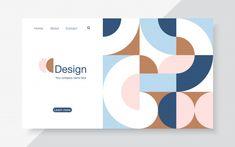 Landing page design template, Web Design, Page Layout Design, Landing Page Design, Shape Design, Book Design, Cover Design, Pattern Design, Design Color, Flat Design