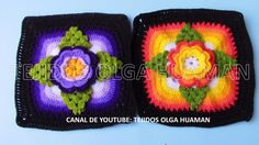 muestra # 15 para colcha a crochet video 2