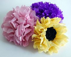 When fresh-cut flowers aren't available (or are out of budget), make your own DIY blossoms? Follow this tissue paper flower tutorial to learn how.