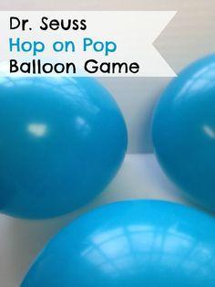 Dr Seuss Balloon Pop #Game for #kids via The Frugal Navy Wife Frugal Summer Activities, Summer Kids Activities #summer