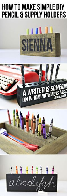 So cool, I especially love the pencil holder. I think I'm going to make one for my writer friend.