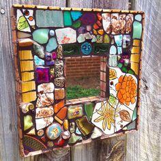Ramblin ' alma mosaico espejo por ModernGarden en Etsy