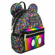 Mickey Mouse Rainbow Mini Backpack by Loungefly. Or any cute Disney bags or  backpacks. b2f813f490d9d