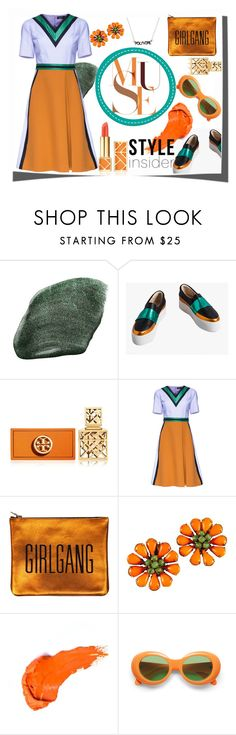 """Orange you Green?  #color play #wordplay #styleinsider #contestentry"" by fashionlibra84 ❤ liked on Polyvore featuring NARS Cosmetics, Tory Burch, Lattori, contestentry, styleinsider and PVStyleInsiderContest"