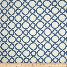 Waverly Kent Crossing Cornflower from @fabricdotcom  Screen printed on cotton duck; this versatile, medium weight fabric is perfect for window treatments (draperies, valances, curtains and swags), accent pillows, upholstering furniture, headboards, ottomans and poufs. Colors include blue and ivory. This fabric has 45,000 double rubs.