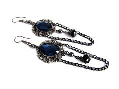 Gothic filigree Earringschains vampire by TrinketsMade on Etsy, $10.00
