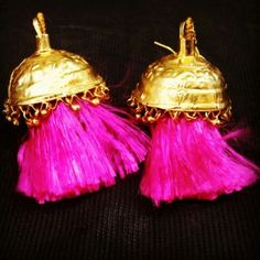 The traditional earrings of punjab