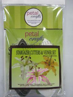Petal Crafts Stargazer Cutters & Veiner Set gum paste cake decorating supplies #PetalCrafts