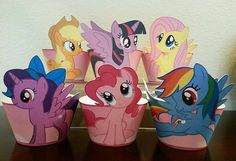 PRINTABLE My Little Pony Cupcake Wrappers